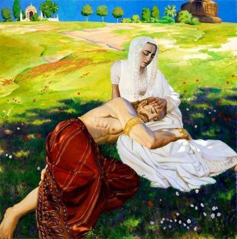 Кунти с сыном солнца Карна