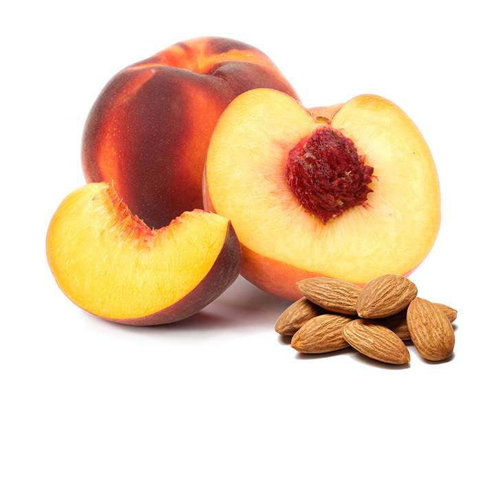 Миндаль и персики