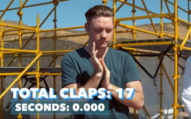 Мировой рекорд по количеству хлопков в ладоши за минуту