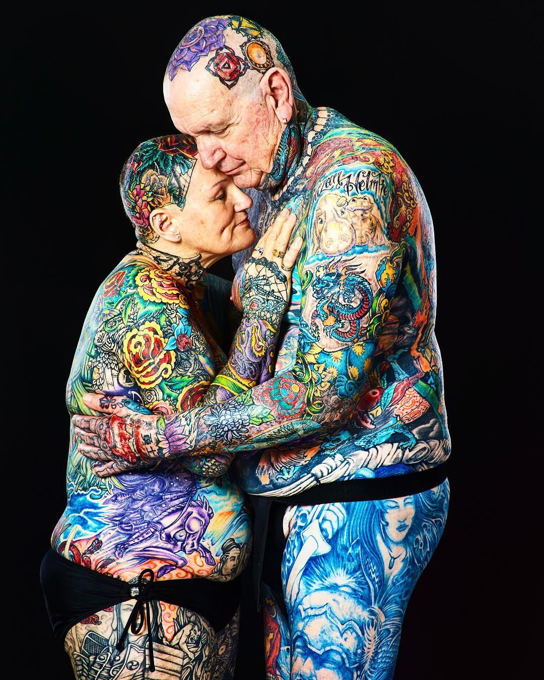 Самые татуированные пожилые люди