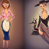 Соблазнительныепин-ап образы героинь советских мультфильмов