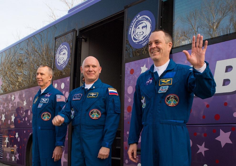 «Союз МС-08» — командир, космонавт Олег Артемьев, бортинженеры, астронавты NASA Эндрю Фойстел и Ричард Арнольд