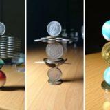 Японец создает невероятныеконструкции из монет