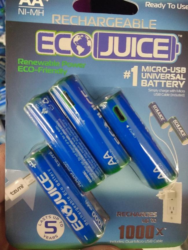 Эти батареи имеют микро-USB для подзарядки