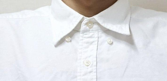 Горизонтальная петля для верхней пуговицы рубашки