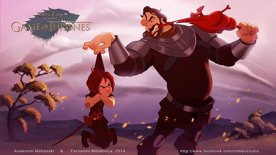 персонажи «Игры престолов» в мир Диснея