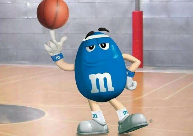 Синий «M&M's»