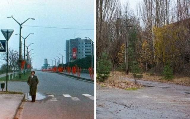 Припять До и После катастрофы на ЧАЭС