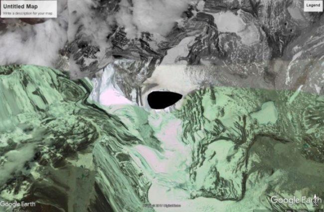 черная дыра в Гималаях