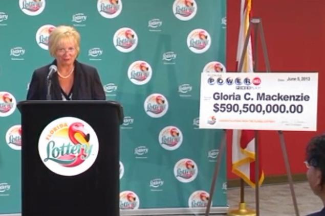Глория Маккензи в powerball выйграла 600 миллионов долларов