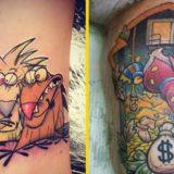 Детские мультяшные татуировки для взрослых