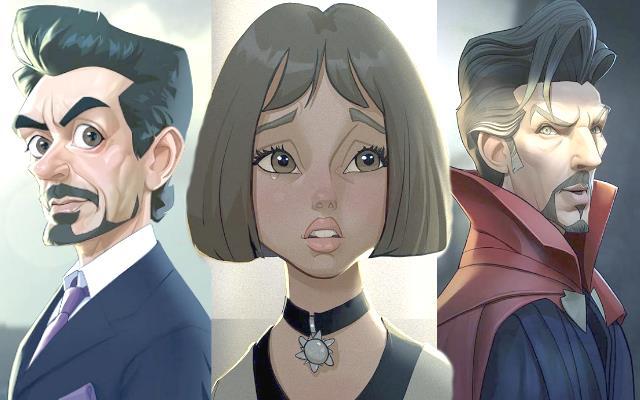 Этот художник превращает персонажей фильмов в персонажей мультфильмов
