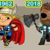 Как с годами менялся внешний вид известных персонажей фильмов
