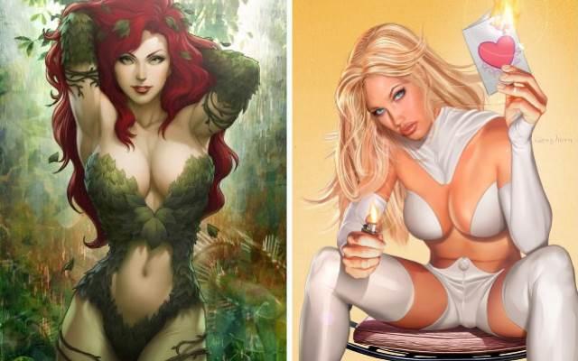 Самыесексуальные девушки из мира комиксов