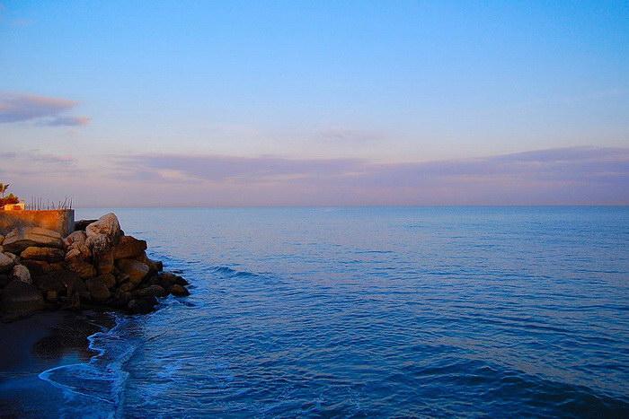 1 место: Каспийское море