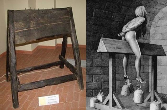 Испанский осел - жестокое орудие пыток.