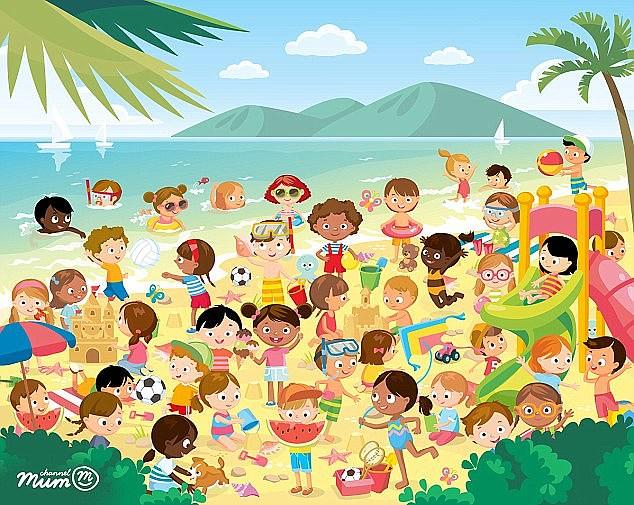 Головоломка«Найдите пару близнецов пляже»