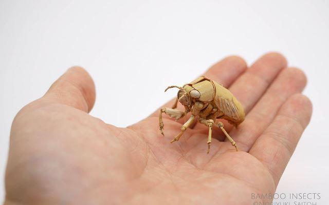Очень реалистичные насекомые, созданные из бамбука