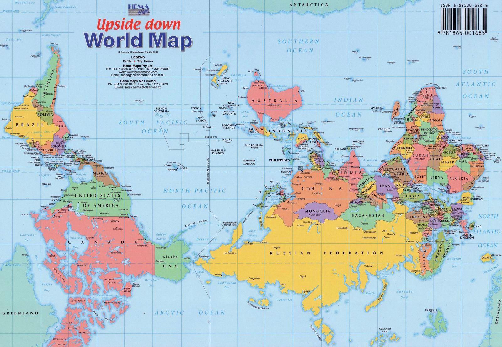 Карта мира глазами Австралии
