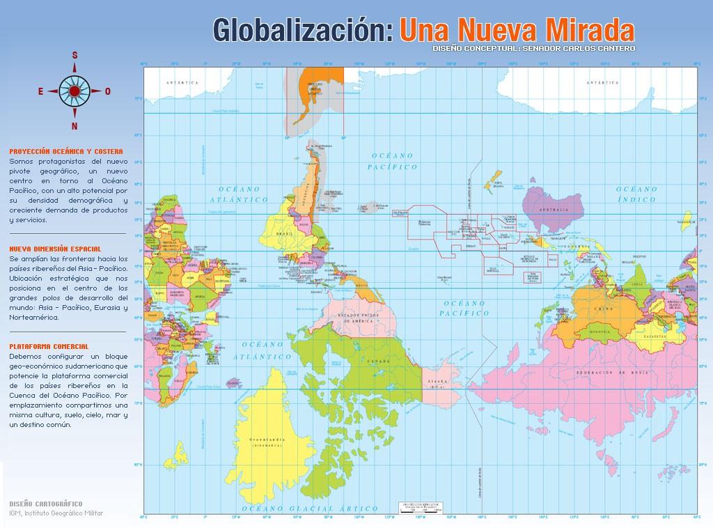Карта мира глазами Чили