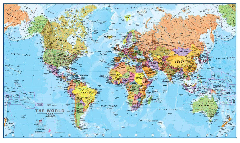 Карта мира глазами Европы