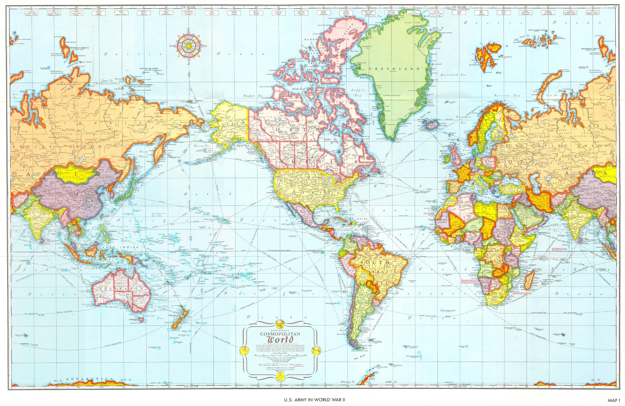 Карта мира глазами США