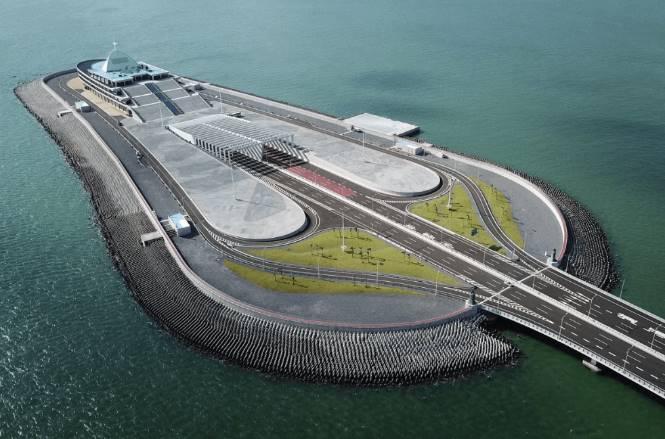 искусственный остров моста