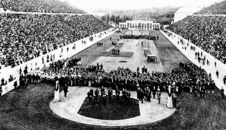 Стадион Панатенаикос в Афинах (Греция) в 1896 году