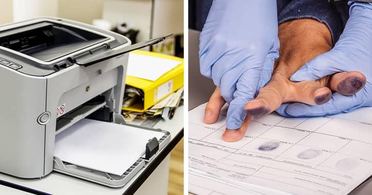 9. Принтеры и отпечатки пальцев