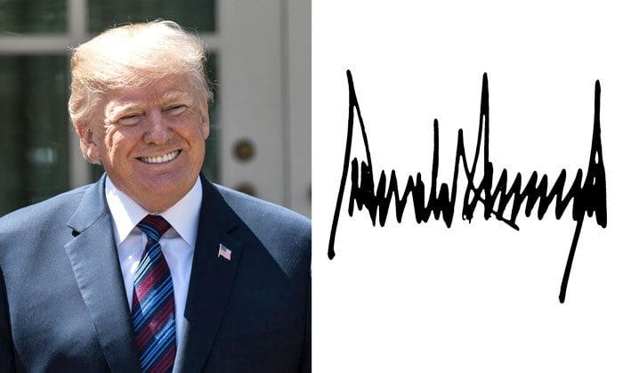 Подпись Дональд Трамп
