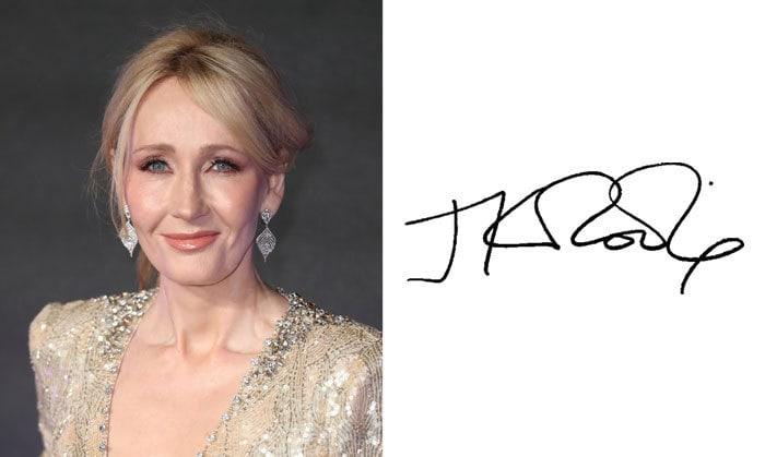 Подпись Джоан Роулинг
