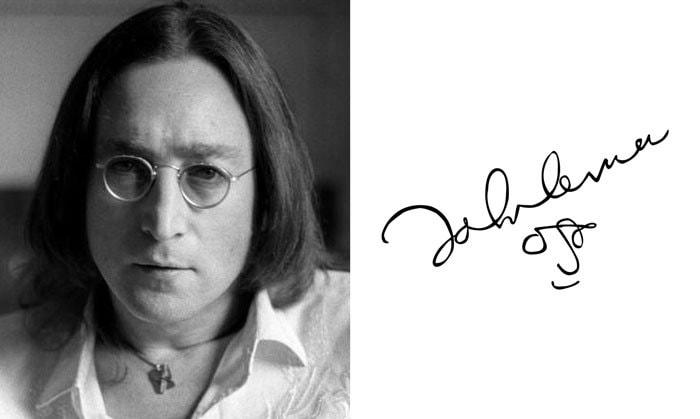 Подпись Джон Леннон