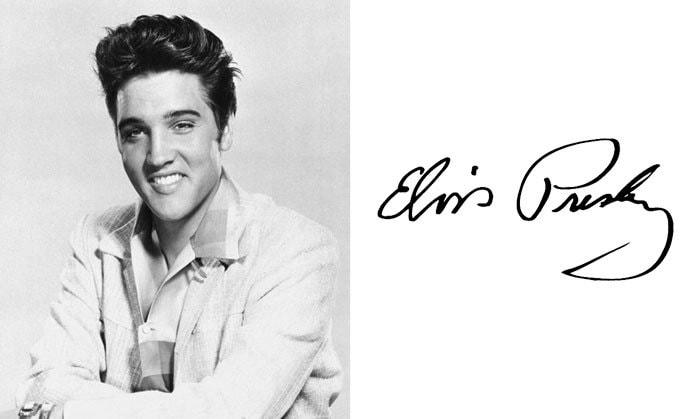 Подпись Элвис Пресли