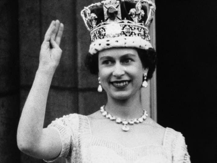 Королева Елизавета в день коронации в 1953 году.