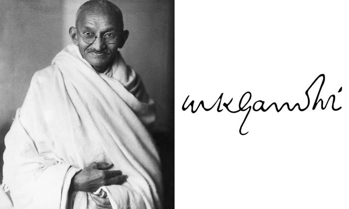 Подпись Махатма Ганди