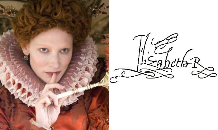 Подпись Елизавета-І