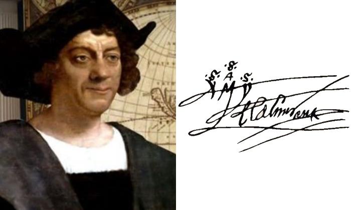 Подпись Колумб