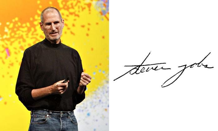 Подпись Стив Джобс