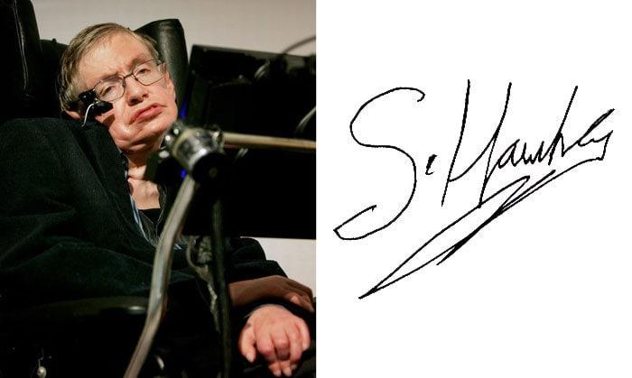 Подпись Стивен Хокинг