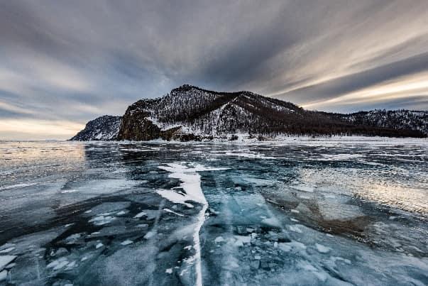 Толщина льда на озере Байкал