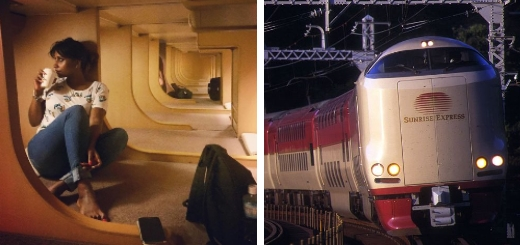 Японский уникальный «спальный поезд» из 70-х