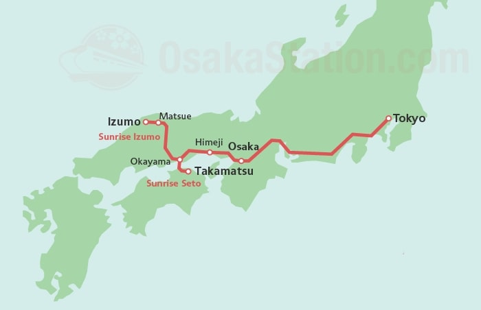 карта поезда Sunrise Express