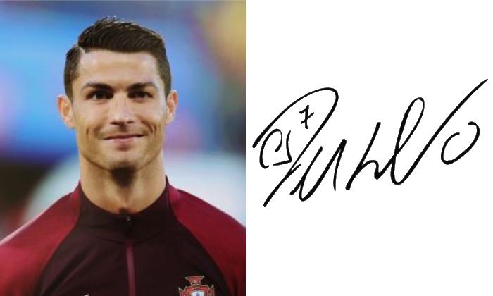 подпись Криштиану Роналду