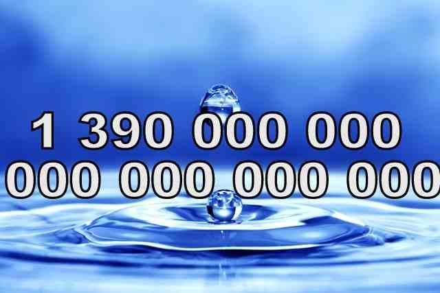 Число Н2O молекул в капле воды