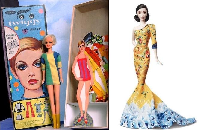 Барби Твигги, 1991 и Кукла Барби Фань Бинбин, 2014