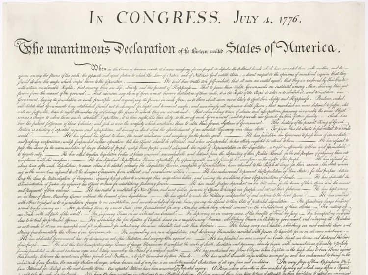 Копия Декларации независимости США