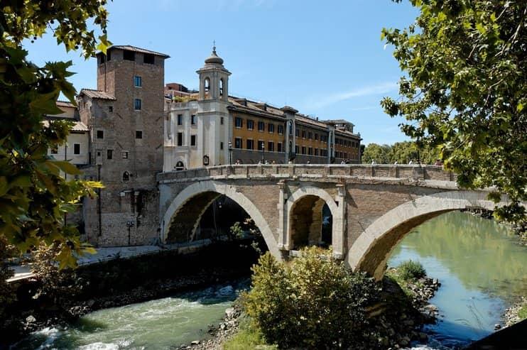 Fabrizio híd, Róma, Olaszország