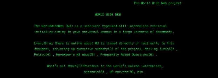 Первая в мире веб-страница