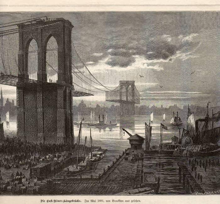 После начала строительства мост считался «символом новой эпохи»