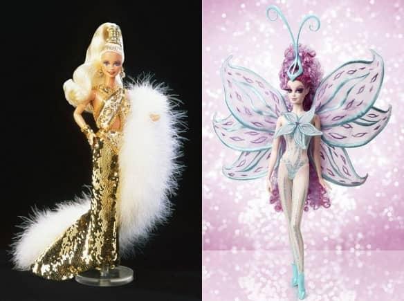 Золотое платье Боба Маки, 1990 г. и Барби от Боба Маки Принцесса Мечтатель, 2014